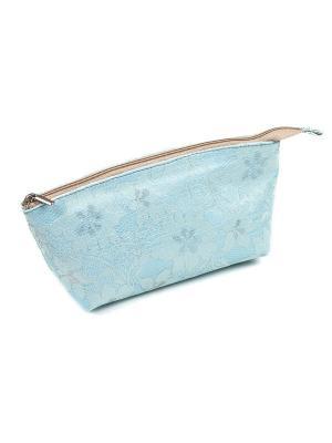 Косметичка из ткани DW-11-10 Лодочка, blue Zinger. Цвет: голубой
