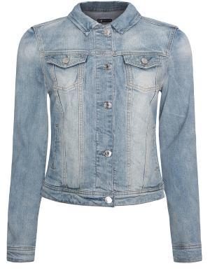 Куртка Oodji. Цвет: серо-голубой