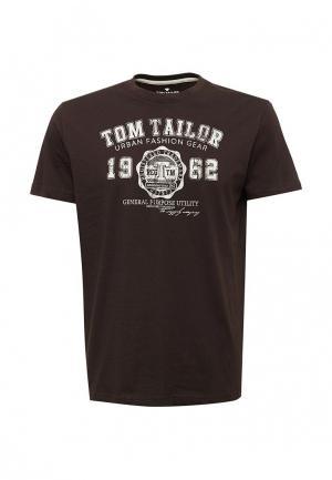 Футболка Tom Tailor. Цвет: коричневый