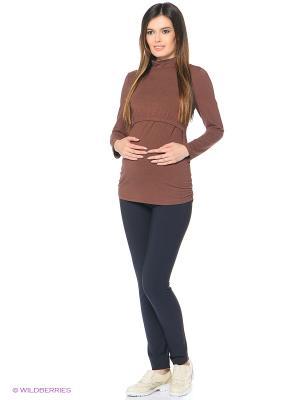 Водолазка для беременных FEST. Цвет: коричневый