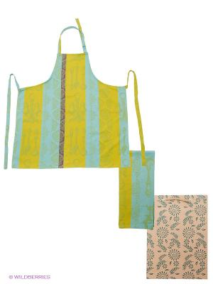 Набор кухонный ARLONI. Цвет: голубой, желтый, фиолетовый