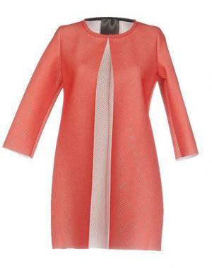 Легкое пальто ES'GIVIEN. Цвет: коралловый