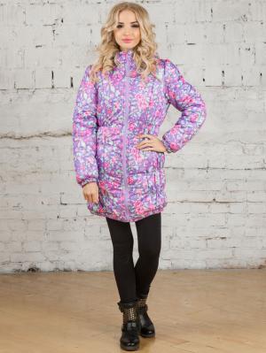 Куртка женская EligoCod. Цвет: фиолетовый