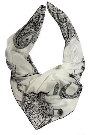 Шелковый платок SHALBE. Цвет: белый, черный