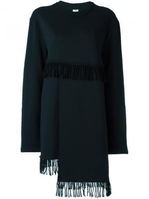 Платье с бахромой Damir Doma. Цвет: чёрный
