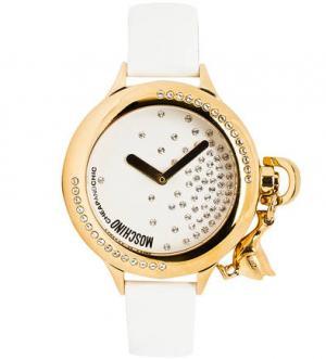 Часы с отделкой стразами Moschino