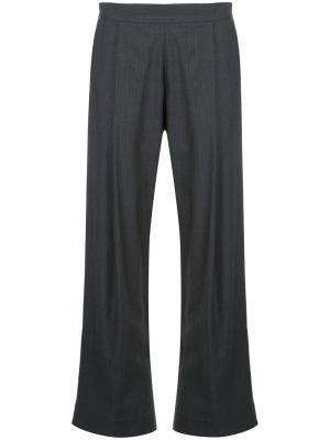 Расклешенные классические брюки Georgia Alice. Цвет: серый