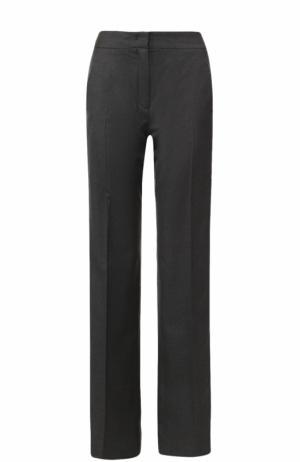 Шерстяные расклешенные брюки с  лампасами No. 21. Цвет: серый