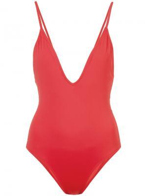 Ashton one-piece swimsuit Morgan Lane. Цвет: красный