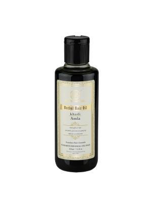 Масло для восстановления волос Амла - без парабенов и минерального масла Khadi Natural. Цвет: черный