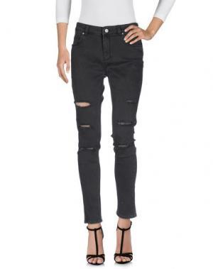 Джинсовые брюки SUPERTRASH. Цвет: черный