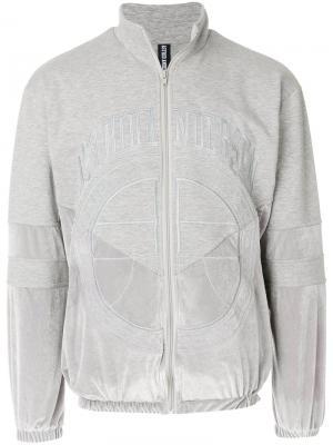 Куртка на молнии с логотипом Astrid Andersen. Цвет: серый