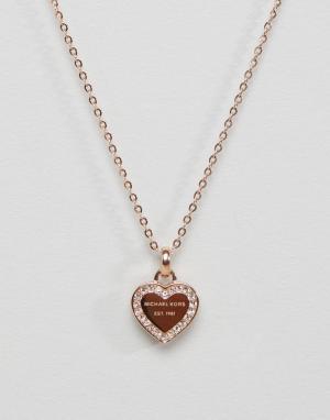 Michael Kors Ожерелье с подвеской-сердечком. Цвет: золотой