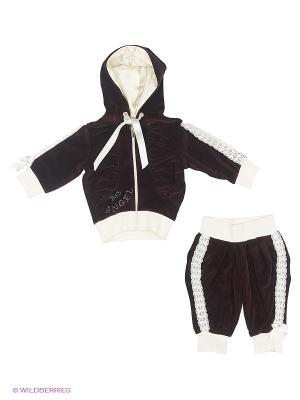 Велюровый костюм babyAngel. Цвет: темно-коричневый