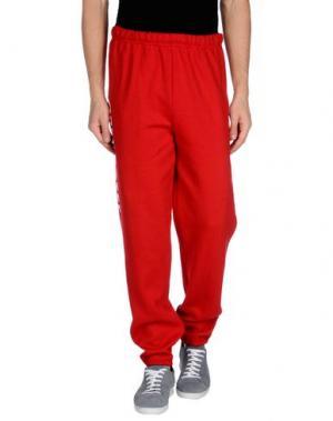 Повседневные брюки OBEY. Цвет: красный