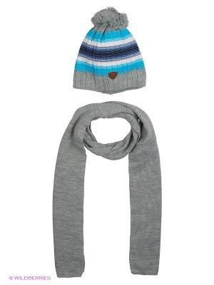 Шапка и шарф Agbo. Цвет: светло-серый