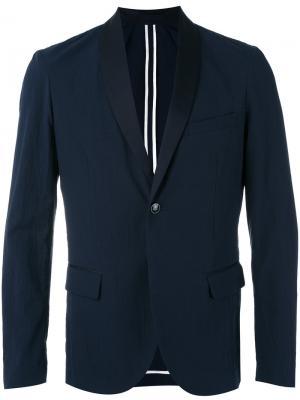 Классический пиджак Paolo Pecora. Цвет: синий