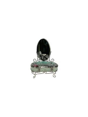 Шкатулка с зеркалом Модница Русские подарки. Цвет: серебристый