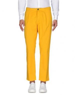 Повседневные брюки DEPARTMENT 5. Цвет: желтый
