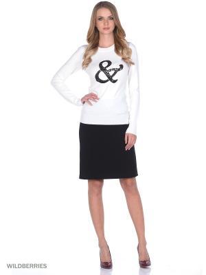 Женский вязаный джемпер с длинными рукавами SMART&FANCY. Цвет: черный, белый