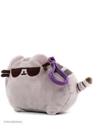 Игрушка мягкая Pusheen Backpack Clip Sunglasses Gund. Цвет: серо-коричневый