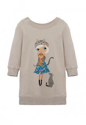 Платье Cava. Цвет: бежевый