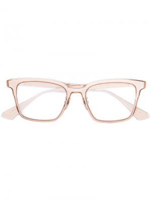 Очки в квадратной оправе Dita Eyewear. Цвет: жёлтый и оранжевый