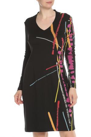 Повседневное платье с рисунком Tuzzi. Цвет: мультиколор