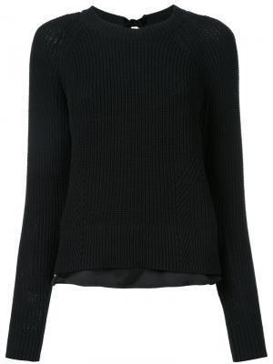Трикотажный свитер Muveil. Цвет: чёрный