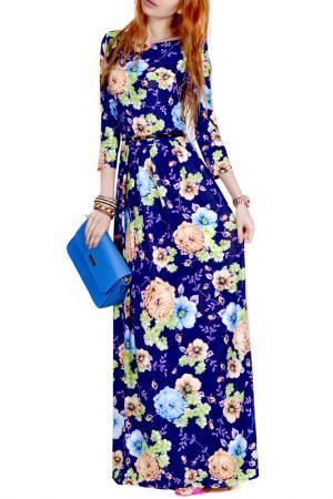 Платье FRANCESCA LUCINI. Цвет: магнолия, экрю, голубой