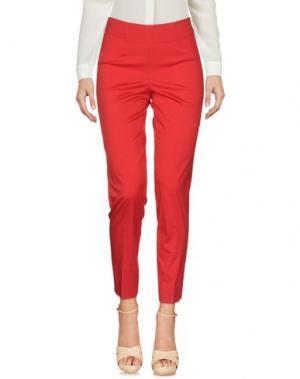 Повседневные брюки ROSSO35. Цвет: красный