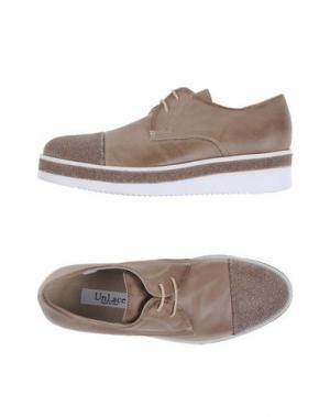 Обувь на шнурках UNLACE. Цвет: хаки