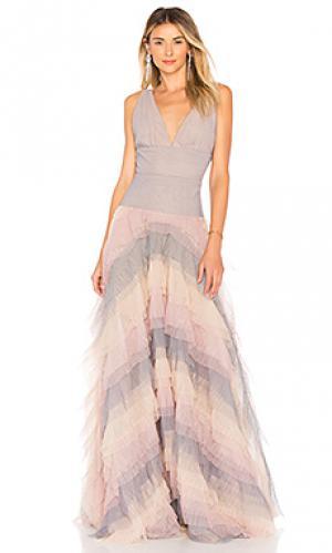 Платье amelia ruffle Bronx and Banco. Цвет: бледно-лиловый