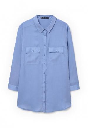 Рубашка Mango. Цвет: синий