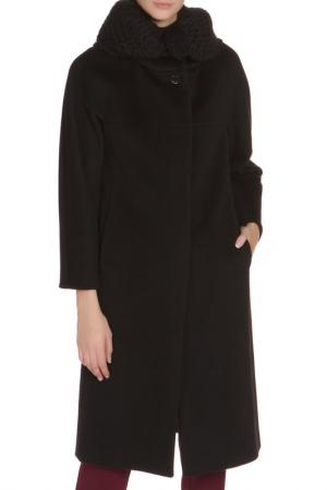 Свободное пальто с застежкой на пуговицы Cinzia Rocca. Цвет: черный