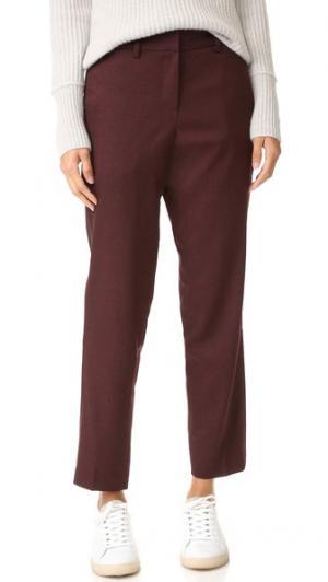 Идеально скроенные брюки со скрытыми лампасами James Jeans. Цвет: бордово-черная фланель