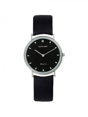 Часы Romanson. Цвет: черный, серебристый