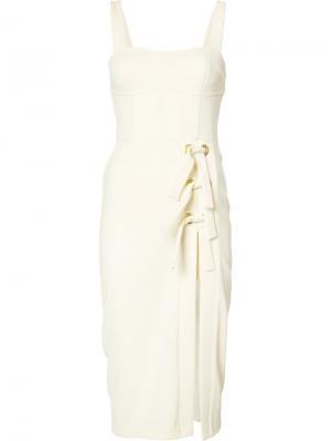 Платье с разрезом сбоку Billie Rebecca Vallance. Цвет: телесный
