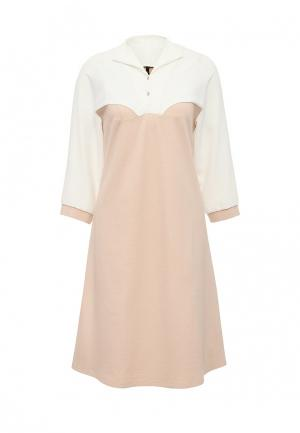 Платье Firkant. Цвет: бежевый