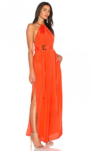 Макси платье spencer AQ/AQ. Цвет: оранжевый