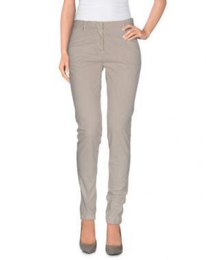 Повседневные брюки PERFECTION. Цвет: светло-серый