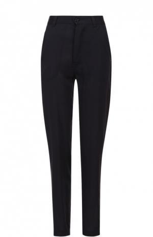 Хлопковые брюки прямого кроя с карманами Isabel Marant Etoile. Цвет: темно-синий