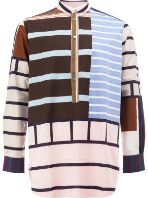 Striped henley shirt Pierre-Louis Mascia. Цвет: многоцветный