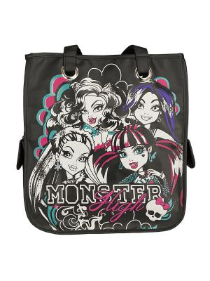 Сумка для шоппинга, Monster High. Цвет: розовый, черный
