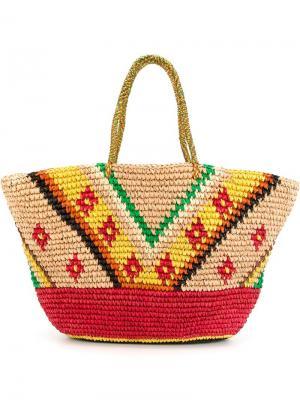 Большая сумка-тоут Sensi Studio. Цвет: многоцветный