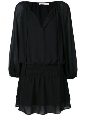 Платье с V-образным вырезом 321. Цвет: чёрный