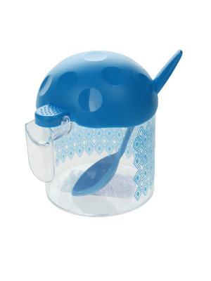 Сахарница Migura. Цвет: прозрачный, голубой