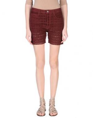 Джинсовые шорты ISABEL MARANT. Цвет: красно-коричневый