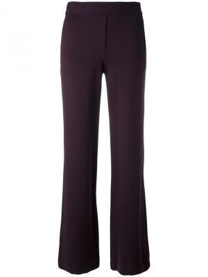 Расклешенные брюки Theory. Цвет: розовый и фиолетовый