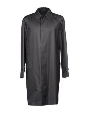 Легкое пальто DUNHILL. Цвет: свинцово-серый
